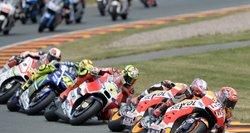 """Dramatiškos """"MotoGP"""" motociklų lenktynės"""