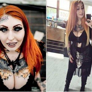 """Tatuiruočių meistrė nori tapti """"Barbe vampyre"""": šeima prašo sustoti"""