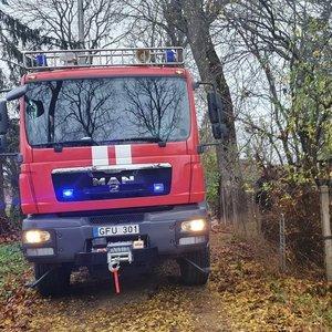 Molėtų rajone per gaisrą žuvo žmogus