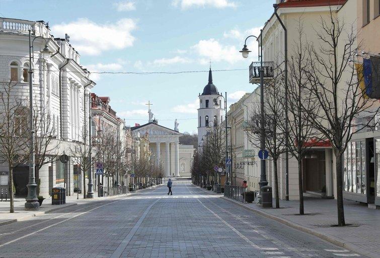 Vilnius pandemijos metu (nuotr. SCANPIX)