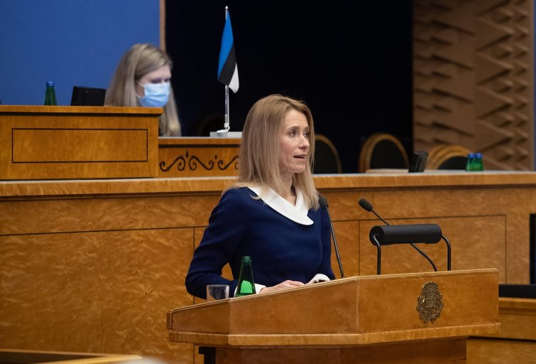 Estijos premjerė Kaja Kalas (nuotr. SCANPIX)