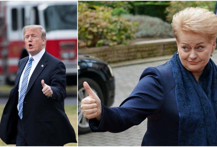 Donaldas Trumpas. Dalia Grybauskaitė (tv3.lt koliažas)