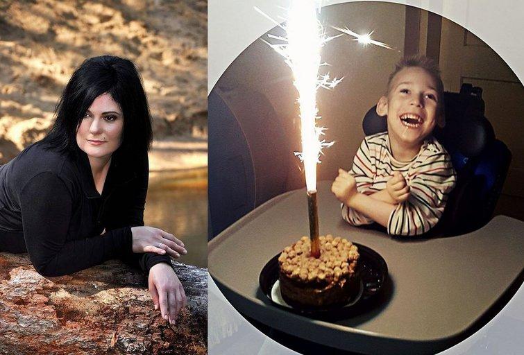 Audronė Jankė ir jos sūnus Hubertas (nuotr. facebook.com)