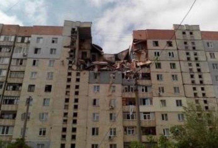 Ukrainoje – galingas sprogimas daugiaaukštyje (nuotr. Gamintojo)