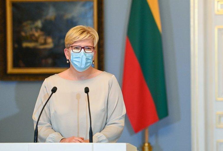 Šimonytė prezidentūroje (nuotr. Roberto Dačkaus)