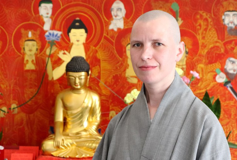 Zen vienuolė Won Bo Sunim (nuotr. Tv3.lt/Ruslano Kondratjevo)