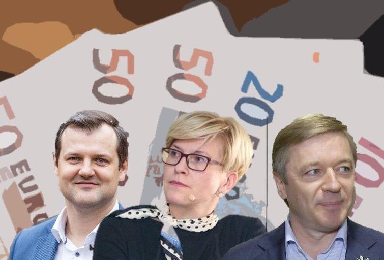 G. Paluckas, I. Šimonytė ir R. Karbauskis  (tv3.lt fotomontažas)