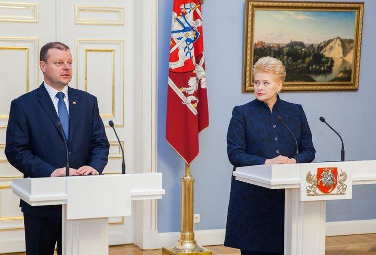 S. Skvernelis ir D. Grybauskaitė (nuotr. Fotodiena.lt)