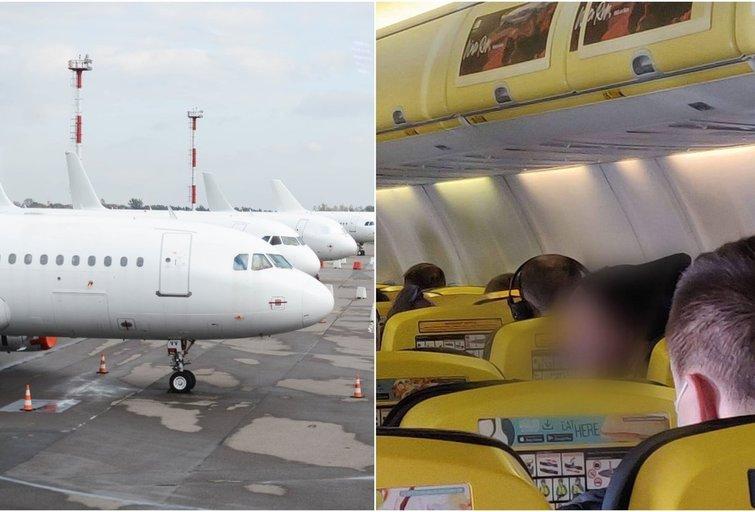 Lietuvė pasipiktino tautiečio elgesiu lėktuve (tv3.lt fotomontažas)