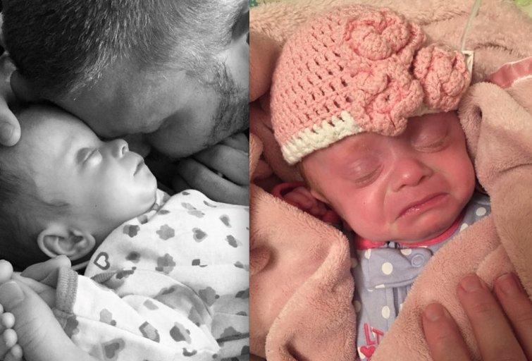Šeima įsivaikino mažylę, nors ir žinojo, kad ji netrukus mirs (nuotr. facebook.com)