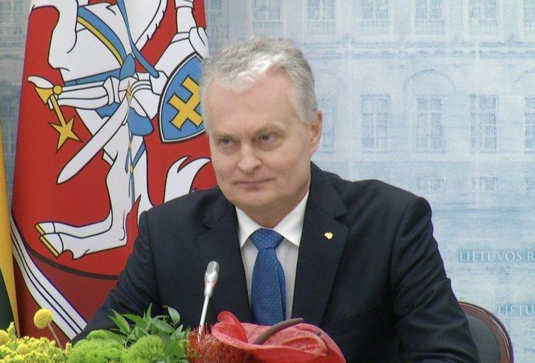 Nausėda apie metus prezidento kėdėje: vienintelę klaidą įvardijo Narkevič paskyrimą (nuotr. stop kadras)