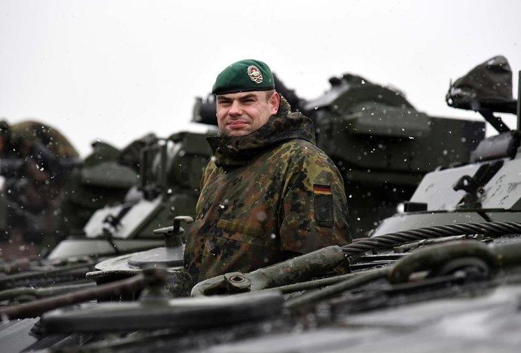 Atvykus vokiečių sunkiajai technikai, NATO batalionas Lietuvoje pasirengęs treniruotėms (nuotr. Giedrės Maksimovicz)