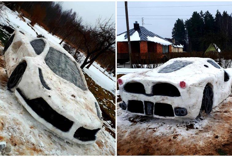 Donatos ir Ervino nulipdytas Ferrari (nuotr. asm. archyvo)