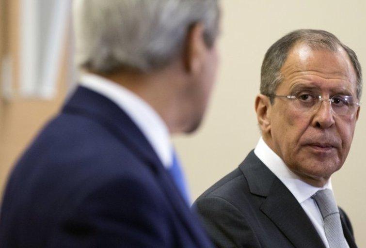 J. Kerry Rusijoje šią savaitę lankėsi tam, kad šalys galėtų konstatuoti savo nuomonių skirtumus Ukrainos klausimu (nuotr. SCANPIX)