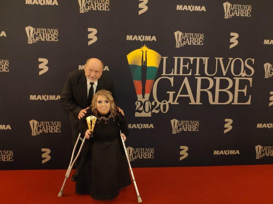 Irma Zabulionytė su savo tėčiu
