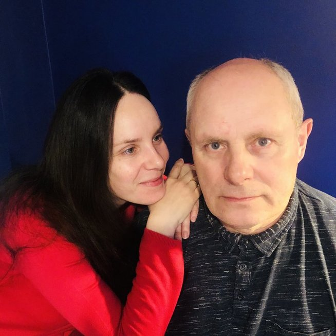 Valda Bičkutė su tėčiu