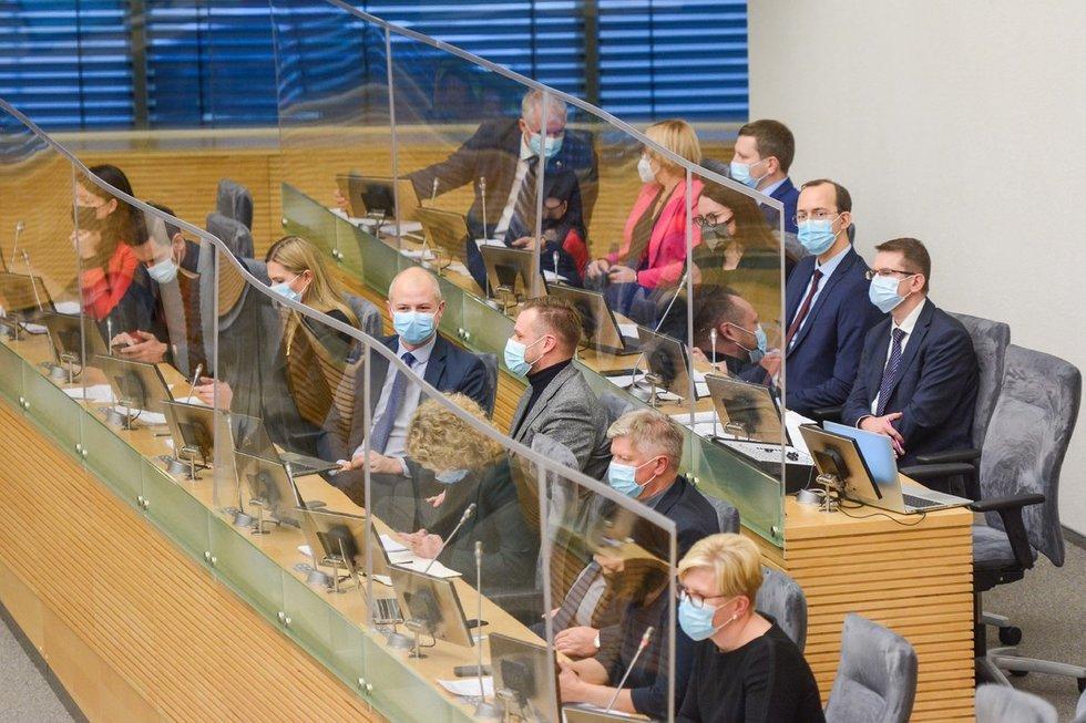 I. Šimonytė Seime pristato Vyriausybės programą