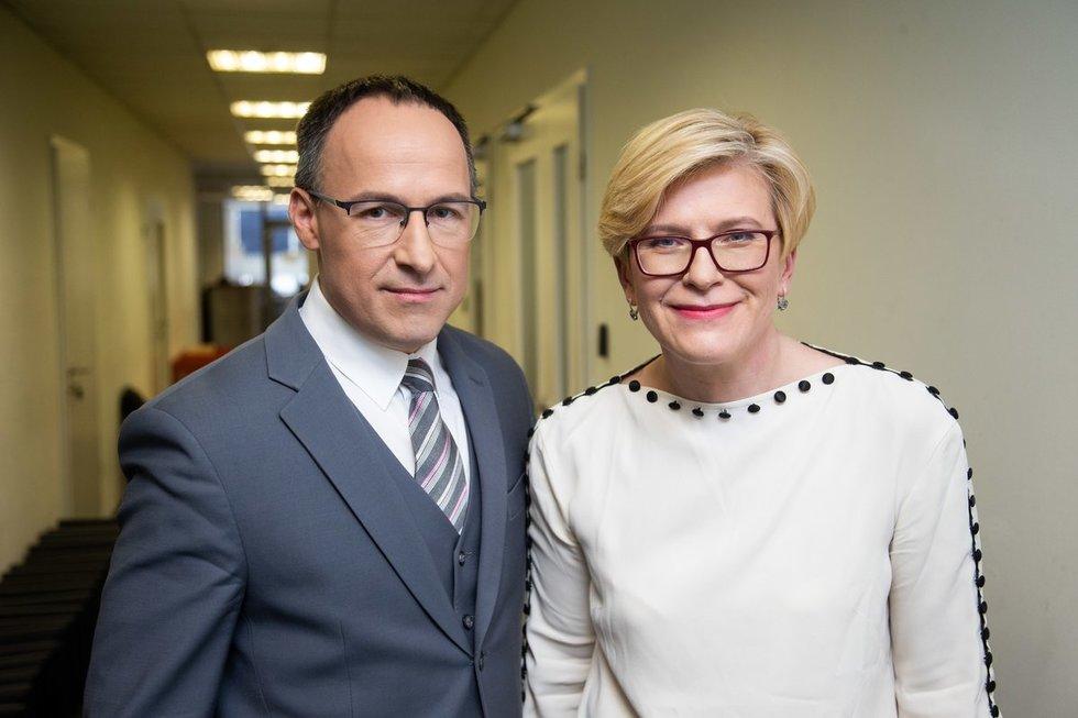 Vladimiras Laučius ir Ingrida Šimonytė (nuotr. fotodiena/Justino Auškelio)