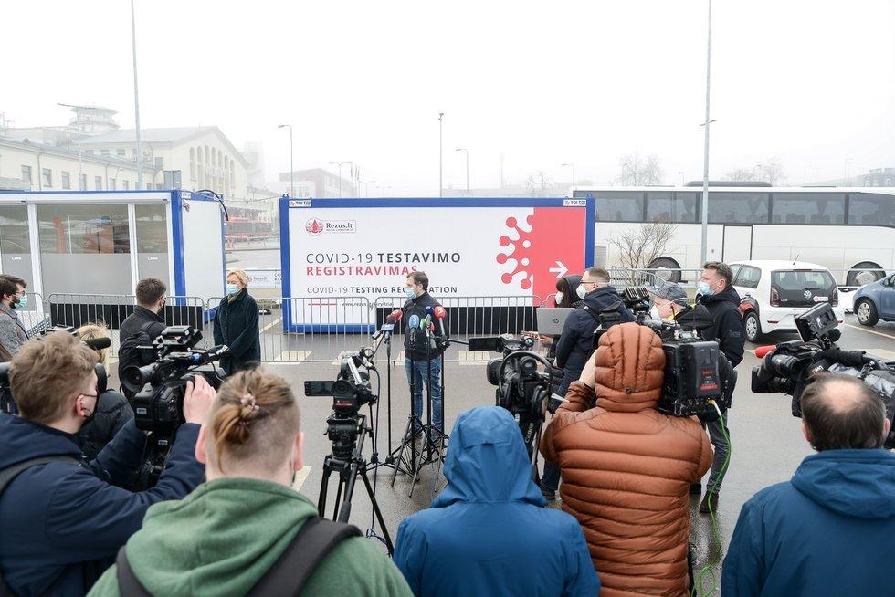 Naujoji Covid-19 testavimo laboratorija prie Vilniaus oro uosto (nuotr. Fotodiena/Justino Auškelio)