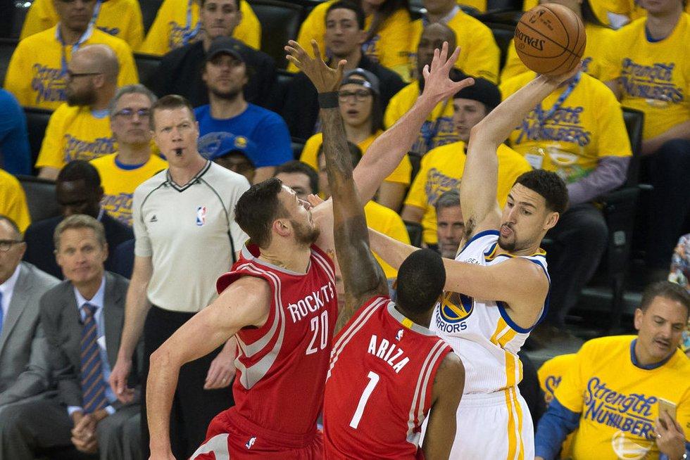 """Paskutinė """"Rockets"""" ir """"Warriors"""" dvikova (nuotr. SCANPIX)"""