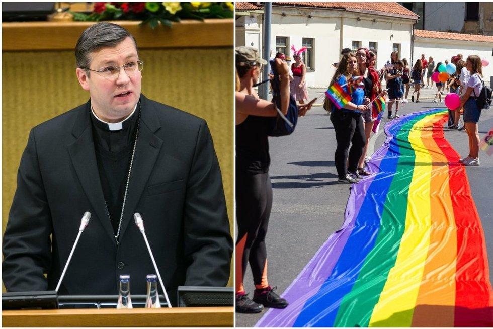 Kauno arkivyskupas ir LGBT (tv3.lt koliažas)