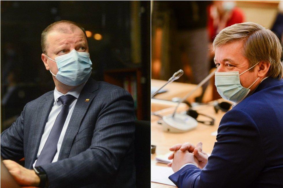S. Skvernelis ir R. Karbauskis (tv3.lt fotomontažas)