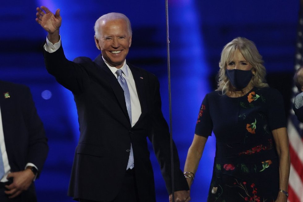 Joe ir Jill Bidenai (nuotr. SCANPIX)