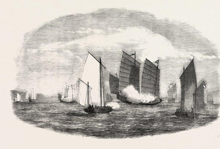 Kinų laivynas (nuotr. Vida Press)