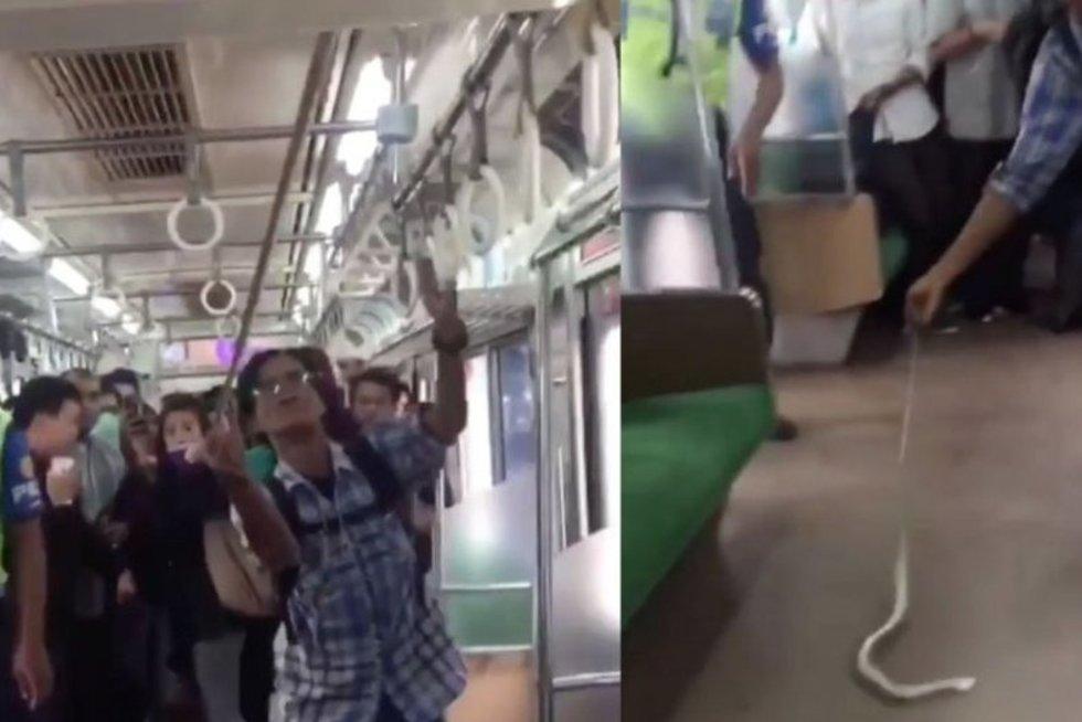 Indonezionietis tapo interneto didvyriu: tai, ką padarė traukinyje, pradžiuginio visus