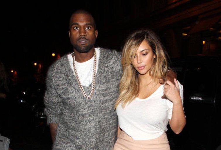 Kim Kardashian ir Kanye Westas (nuotr. Alloverpress.ee)
