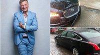 Dėl liūties Vilniuje nukentėjo Ž. Žvagulio automobilis