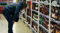 Prekybos tinklai rado būdą, kaip pranešti apie akcinį alkoholį (nuotr. Tv3.lt/Ruslano Kondratjevo)
