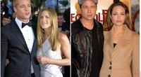 Brad Pitt su Jennifer Aniston ir Angelina Jolie (tv3.lt fotomontažas)
