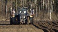 Tik nutirpus sniegui – prasidėjo ir bulviasodis: Kėdainių ūkininkų nutarė nebelaukti (nuotr. stop kadras)