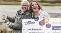 Loterijos laimėtojai. The National Lottery@TNLUK/Twitter nuotr.