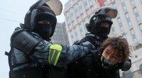 Protestai Maskvoje dėl Navalno įkalinimo (nuotr. SCANPIX)