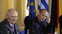 Vokietijos finansų ministras Wolfgangas Schauble ir Graikijos finansų ministras Janis Varoufakis (nuotr. SIPA/Scanpix)