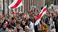 Baltarusijos studentai prasidedant mokslo metams protestuoja prieš A. Lukašenką (nuotr. SCANPIX)