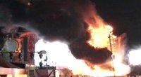 Ispanijoje per muzikos festivalį kilus gaisrui evakuota daugiau kaip 22 tūkst. žmonių (nuotr. SCANPIX)