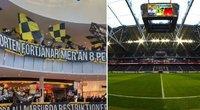 Protestuodami Švedijos futbolo fanai surengė griausmingą protestą prekybos centre (nuotr. SCANPIX)