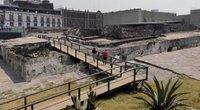Actekų šventovė Mexikoje po metų pertraukos atvėrė duris lankytojams (nuotr. stop kadras)