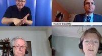 Internetiniame seminare mintimis dalijosi Tarptautinio negalios aljanso vykdomasis direktorius Vladimiras Cukas, Europos negalios forumo direktorė Catherine Naughton ir Italijos negalios forumo atstovė Luisa Bosisio Fazzi.