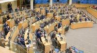 I. Šimonytė Seime pristato Vyriausybės programą (nuotr. Fotodiena/Justino Auškelio)