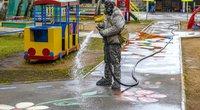 gatvių dezinfekcija (nuotr. SCANPIX)