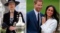 Princesė Anne, princas Williamas ir Meghan Markle (nuotr. SCANPIX)