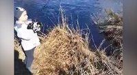 Vyriškis užfiksavo įsimintiną sūnaus žvejybą: teko į šalį skubiai mesti telefoną