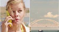 """""""Krymo tiltas. Padaryta su meile!"""" (nuotr. stop kadras)"""