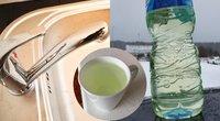Žalias vanduo iš čiaupo (tv3.lt fotomontažas)