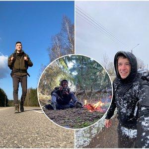 Iš Vilniaus į Palangą pėsčiomis nuėjęs Mantvydas nustebino visus: užtruko 15 dienų