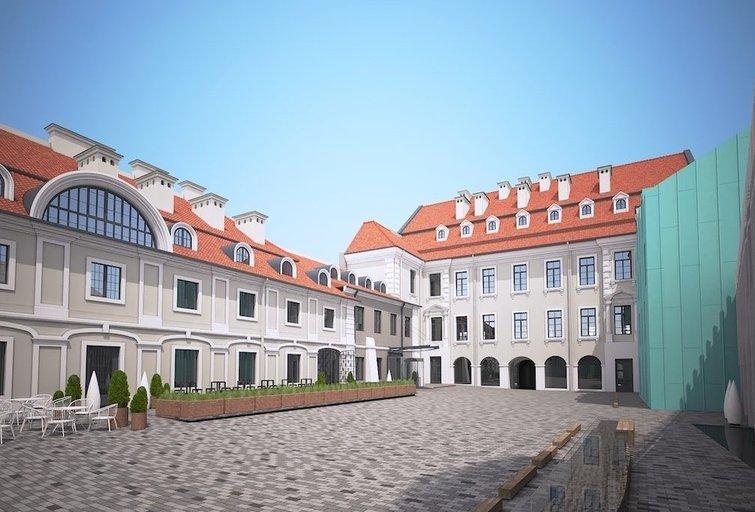 """Atgimsta istoriniai rūmai: pavasarį Vilniaus širdyje duris atvers viešbutis """"Pacai"""" (nuotr. Gamintojo)"""